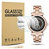 Diruite 4-Pack for Michael Kors Access Sofie Tempered Glass Screen Protector for MK Sofie Smart Watch [Anti-Scratch] [Perfectly Fit] [Optimized Version]