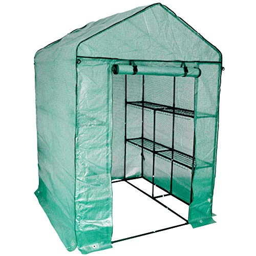 Harbour Housewares Large Double Depth Vegetable Fruit Greenhouse with 8 Shelves and Strong Reinforced Cover
