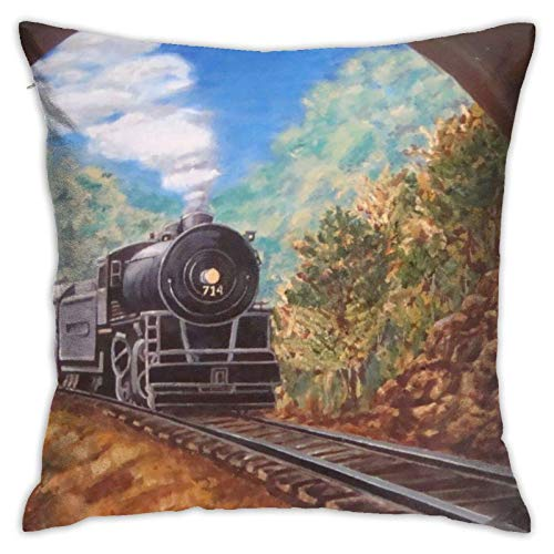 XCNGG Kissenbezug Home Kissenbezug Bettwäsche Throw Pillow Case, Train Pillow Cover,...