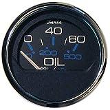 Faria 13702 Chesapeake Stainless Steel Oil Pressure Gauge (80 PSI) - 2', Black