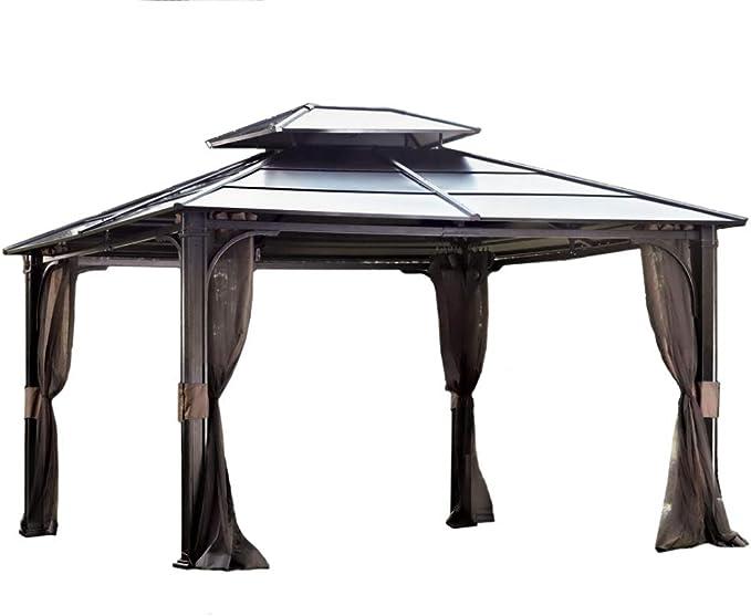 Sunjoy Chatham Steel Hardtop Gazebo 10'x12'