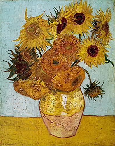 PLKIJ Puzzle Personalizzabili da 1000 pezzi Vincent Van Gogh-girasole-Gioco di puzzle per adulti e adolescenti Giocattoli Regalo Decorazione per la casa Giocattoli fai da te per 75x50 cm