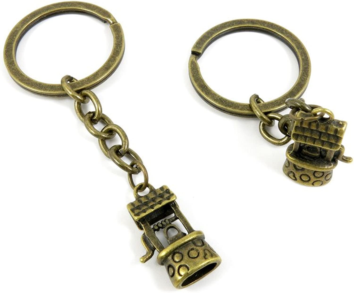 50 Pieces Fashion Jewelry Keyring Keychain Door Car Key Tag Ring Chain Supplier Supply Wholesale Bulk Lots C0NG7 Hanging Well