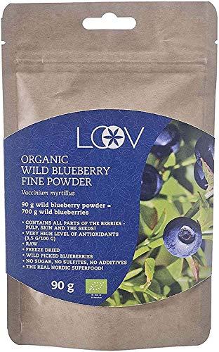 RICO EN ANTIOXIDANTES Y FITONUTRIENTES. Los arándanos azules silvestres (Vaccinium myrtillus) poseen un alto contenido de antocianinas y constituyen una poderosa fuente de polifenoles y antioxidantes. 90 g de polvo de arándano azul silvestre = 700 g ...