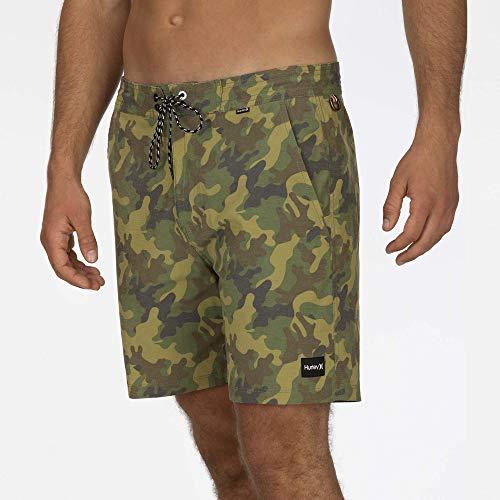 Hurley M Beachside Islander 18' Shorts, Uomo, Cargo Khaki, 32