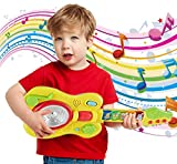 Popsugar Musical Guitar with Motion Sensor Play for Kids, Yellow