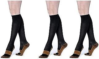 Cuekondy Women Men Stripe Ankle Socks Causal Mid-Calf Striped Crew Socks Vintage College Style Cotton Socks