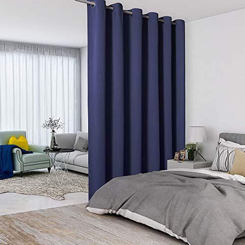 LORDTEX Raumteiler-Vorhänge – totale Privatsphäre Wand Raumteiler, schalldicht, breit, Verdunkelungsvorhang für Wohnzimmer, Schlafzimmer, Terrasse, Schiebetür, 1 Panel, 4,5 m breit x 2,4 m hoch