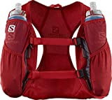 Salomon AGILE 2 SET Mochila de running ligera, 2 botellas SoftFlask 500 ml incluidas, LC1306000, 2 L, Rojo (Goji Berry)
