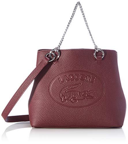 Lacoste Damen NF3066 Handtasche, Burgunderrot, Einheitsgröße EU