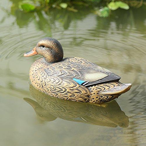 Sharplace Kunststoff Lockvogel - Schwimmend Ente Henne Köder Jagd Fischerei Garten Teich - Henne