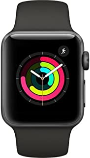 Apple Watch Series 3 (Space Grey, 42mm, Black Sport Band, GPS Only)