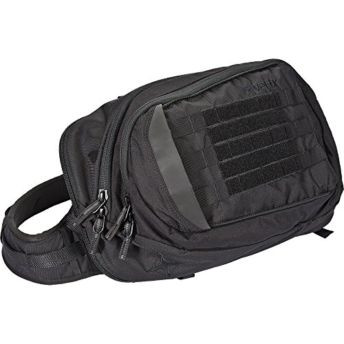 VertX EDC Proffessional Tactical Commuter Sling Pack with MOLLE Field, Black