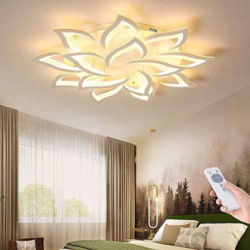 Blume Kreative Deckenlampe LED Deckenleuchte Innen Decken Beleuchtung Für Schlafzimmer Wohnzimmer Mit Fernbedienung Küche Esszimmer Weiß Acryl Lampenschirm Dekorative Dimmable Lampe,14 heads