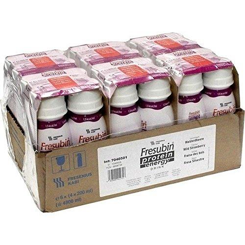 Fresenius Kabi Fresubin Protein Energy Drink Walderdbe.Trinkflasche, 6 x 4 x 200 ml, 1er Pack (1 x 5,5 kg)