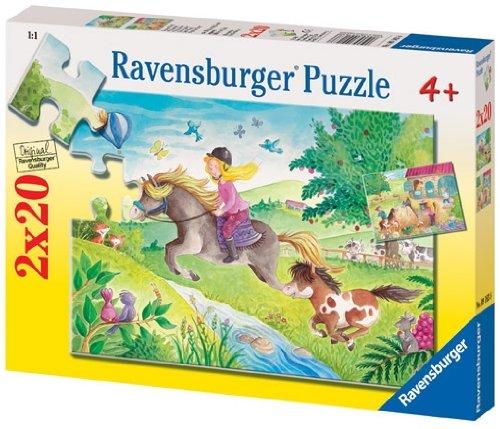Ravensburger 09163- Puzzle de 20 Piezas de Pequeño Pony (2 Unidades)