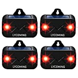 Lycoming 4 Pack Deer Repellent Devices Raccoon Repellent for Nocturnal Animals Solar Predator Control Light Coyote...