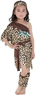 Deluxe Cavegirl Costume for Girls with Accessories Halloween Birthday Party