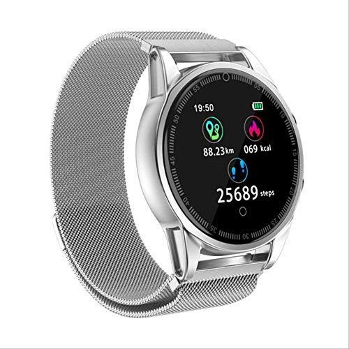 YUJY Smartwatch Smart Armband Farbbildschirm R13 Pro Smart Heart Armband Blutdruckmessgerät Wasserdicht SAMRT Uhr Armband Fitness Tracker Silber Metall