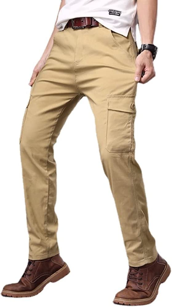 Depslee Casual Max 62% OFF Cargo Pants for Relaxed Fit Mens?Mulit-Pocket Str High material