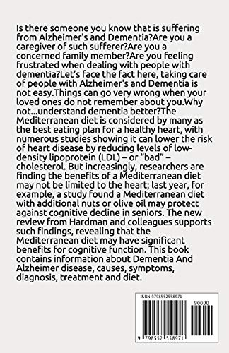 51pp2u4IilL - DEMENTIA AND ALZHEIMEIR DIET: Experts Guide To Following The Anti-aging Longevity Diet Includes Delicious Recipes and Meal Plan Better Health