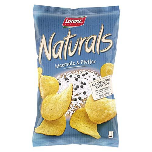 Lorenz Snack World Naturals Meersalz und Pfeffer, 12er Pack (12 x 95 g)