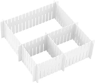 feihao Organiseur de tiroir, séparateur de tiroir–Organisateur de tiroir Pratique en Plastique–Range Couverts pour tiroir ...