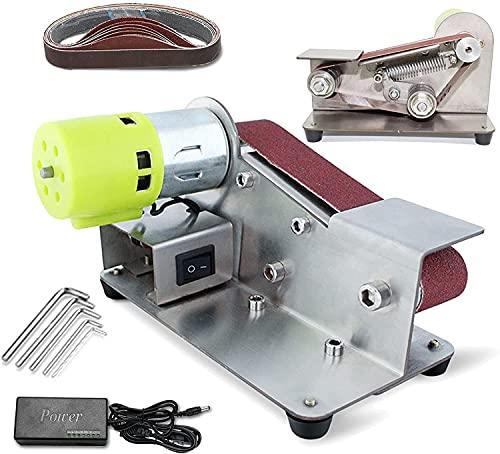 wsbdking DIY Mini Belt Sander, Electric Polishing Grinding Machine Knife Apex Edge Sharpener for Woodworking Resin Table Wood Grinder Bench Top Grinding Tool (Color : 795)