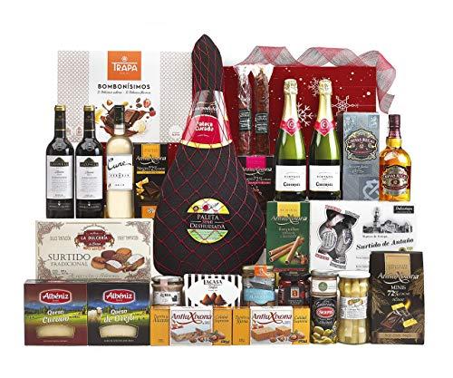 Lote Regalo Cesta de Navidad 2020 Gourmet · Regalo Personal o de Empresa · Agradecimiento Navideño. Incluye Opcionalmente Tarjeta Dedicada y Personalizada (Lote 10)
