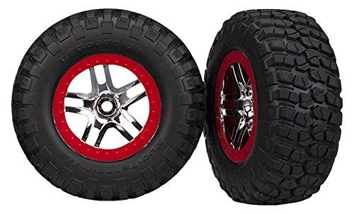 small Traxxas 6873R BFGoodrich Schlamm-Terrain T / A KM2 tires, glued to SCT, chrome, red …