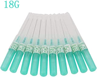 10PCS 18G Gauge Stainless Steel Disposable Catheter Piercing Needle Sterile Body Piercing Tattoo Tools(Pack of 10pcs)