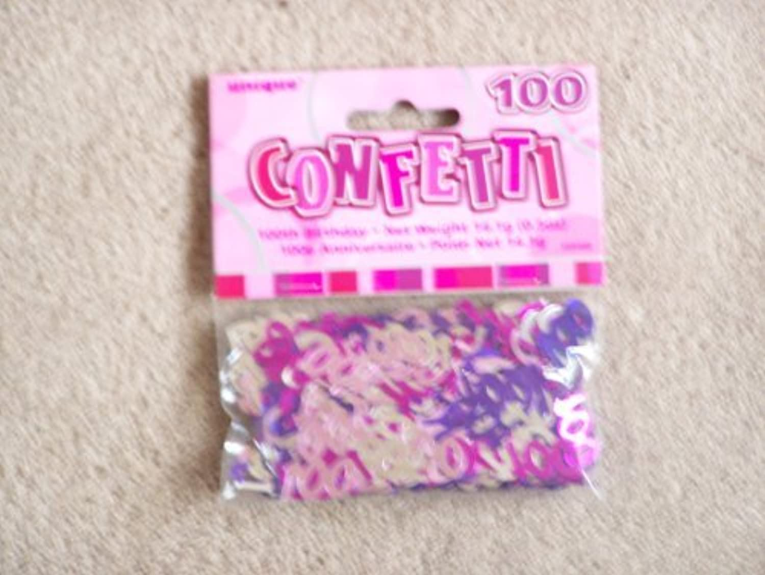 100TH BIRTHDAY CONFETTI (NEW UNIQUE PINK hol) by Every-occasion-party-supplies