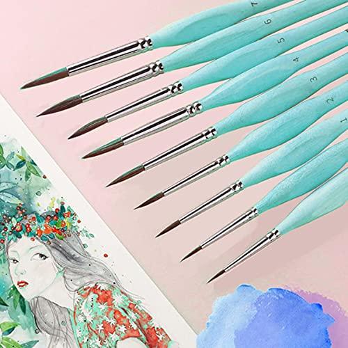 Triangle bouleau tige fine nail art étudiants dessin au trait spécial gouache couleur trait pinceau à huile 4 couleurs crochet ligne stylo-000 0 1 3 5 7 bleu