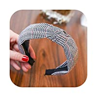 Plaid CottonHair Accessories Knotted Hair Band for Women Headbands Hairbands Headwear-28-
