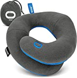 BCOZZY Chin Supporting Travel Pillow- Unique Patented Design Offers 3 Ergonomic Ways to Support The Head, Neck, and Chin When Traveling and at Home. Fully Washable. Large, Gray