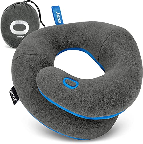 BCOZZY Kinnstütz-Reise-Nackenkissen - Unterstützt den Kopf, Hals und das Kinn bei maximalem Komfort in jeder Sitzposition. Ein patentiertes Produkt. Erwachsenen...