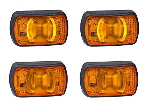 4 x LED kant Outline Oranje Emarked IP68 camper aanhanger vrachtwagen caravan bus