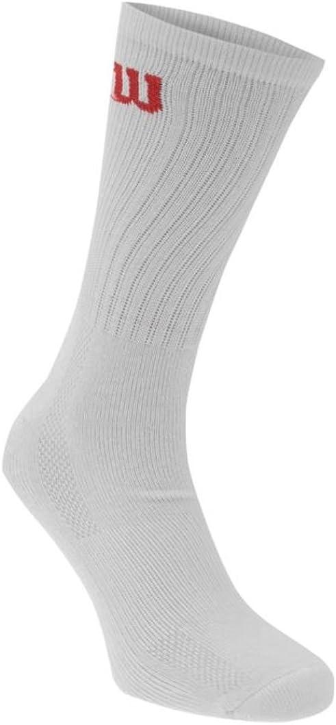 Wilson Crew Ultra Fresh Socks - Pack of 3 (White) UK 6-11