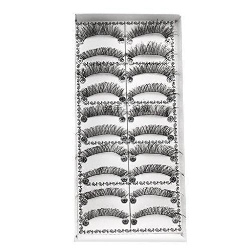 Baoblaze 10 Paires 3d Faux Cils Maquillage Long Epais Naturel - #2