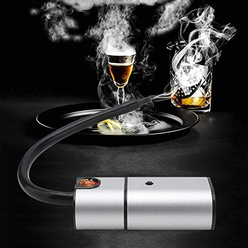 Shhjjyp Kalter Rauchgenerator Für Lebensmittel, Tragbare Molecular Cuisine-Rauchpistole, Tragbarer Griff + Räucherholzchips, Ideal Zum Räuchern Von Lebensmitteln Auf Dem Grill