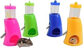 (エスライフ) S-Lifeeling ハムスター ボトル 給水器 リス モモンガ 水飲み器 水漏れ防止機能付き 便利 取り付け簡単 小動物用品 飼育ケージ内装 小動物の隠れ家 色ランダム …