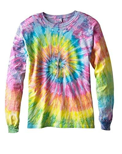Tie-Dyed Tie-Dye CD2000 100% Cotton L-Sleeve T-Shirt Saturn Medium