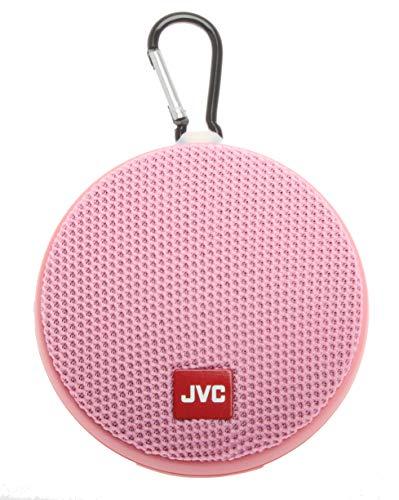 JVC Portable Wireless Speaker with Surround Sound, Bluetooth 5.0, Waterproof IPX4, 7-Hour Battery Life - SPSA2BTP (Pink)