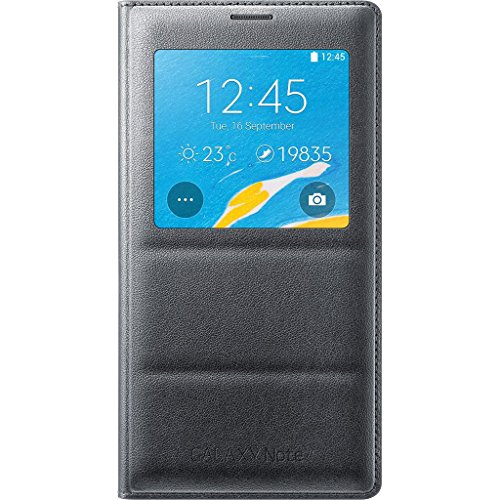 Samsung Galaxy Note 4 Case, S View Flip Cover Folio Case - Charcoal Black