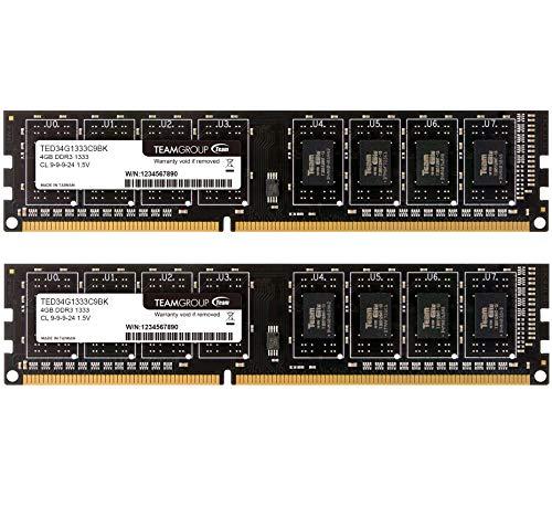Dual Channel kit 6-6-6-18 4GB Team Elite Plus Black DDR2 PC2-6400 800MHz