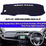 Auto Dashboard Abdeckung Dash Matte Für Hilux SR5 4x4 REVO Hallo-Reiter 2015 2016 2017 2018 auto Sonnenschutz Matte Pad Auto Styling,Blau