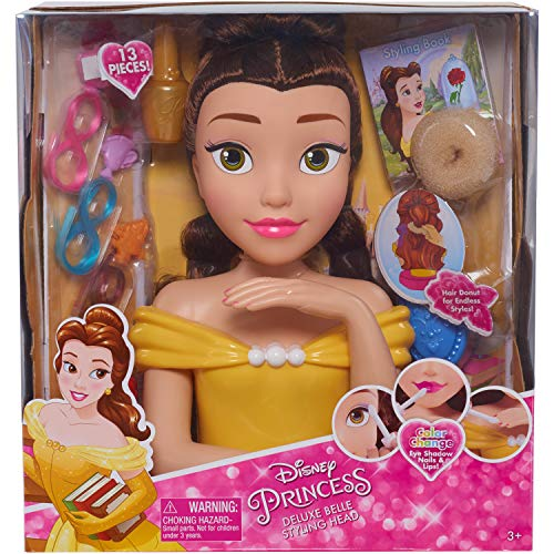 Disney Princess JPL87355 Princess Deluxe Belle Styling Head, Yellow