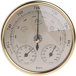 hkwshop Higrómetro para Interior Barómetro para el hogar Montado en la Pared Termómetro Hygrómetro Estación meteorológica ...