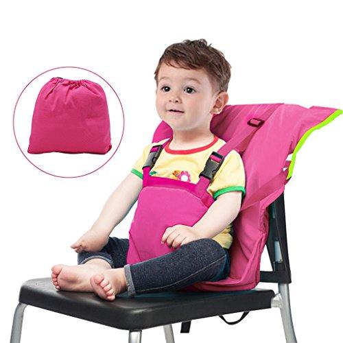 Bambino Seggiolone Coprisedile Viaggio Imbracatura di Sicurezza Portatile Infantile Sacco Cintura,Rosa