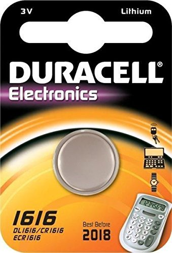 Aksans 2Duracell 1616CR1616DL1616della batteria al litio a bottone